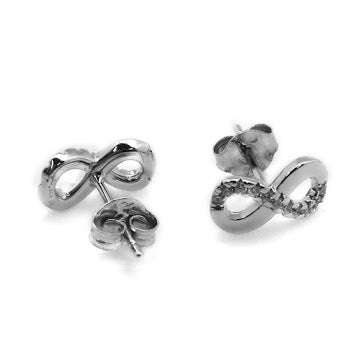 Infinity CZ Post Earrings - Allyanna Gifts