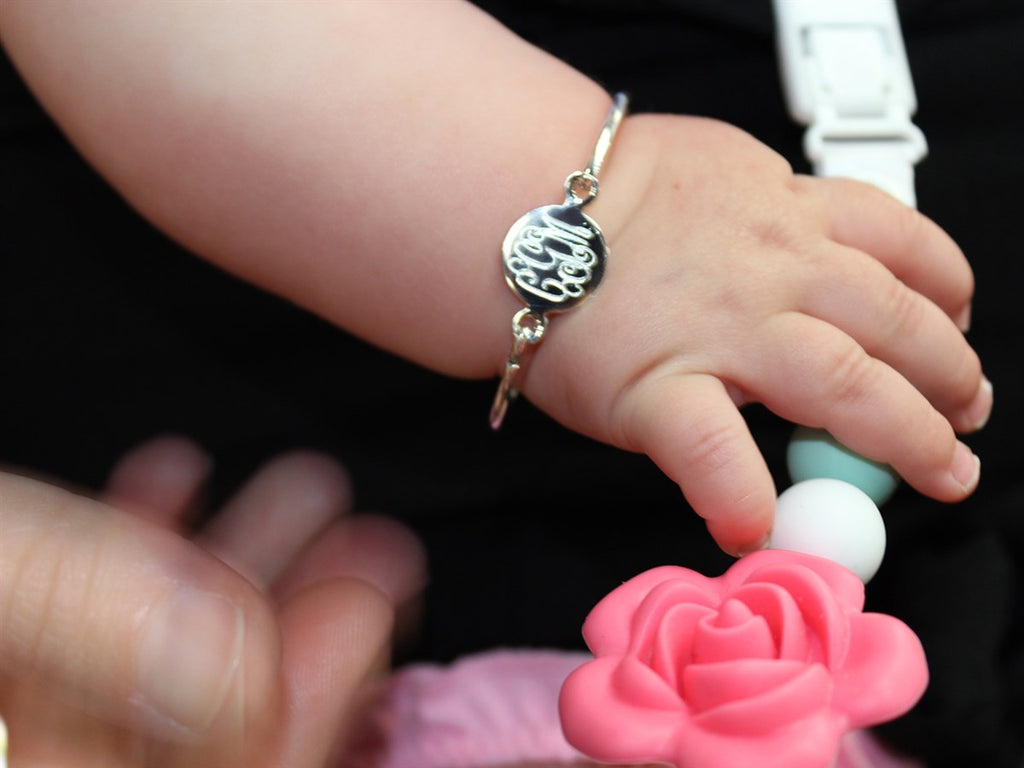 Sterling Silver Circle Baby Bangle - Allyanna Gifts