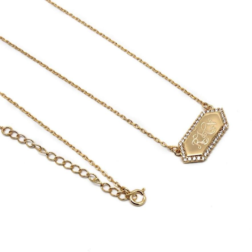 Hexagon Bar Necklace - Allyanna Gifts