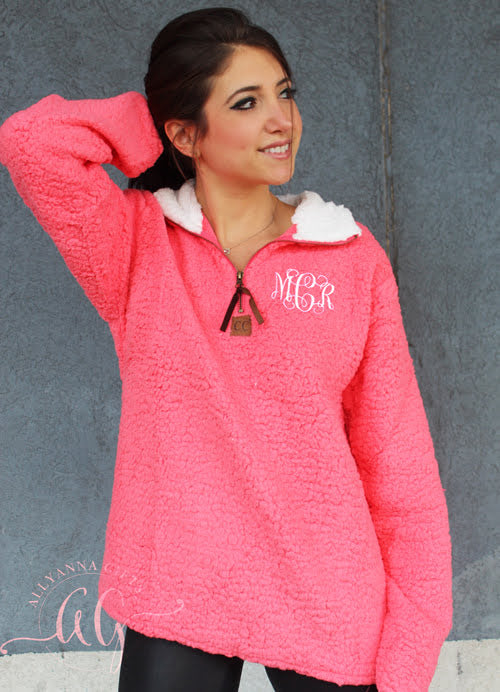 Monogrammed Sherpa Pullover - Allyanna Gifts