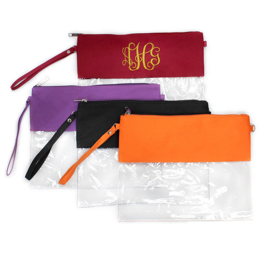 Monogrammed Clear Stadium Bag