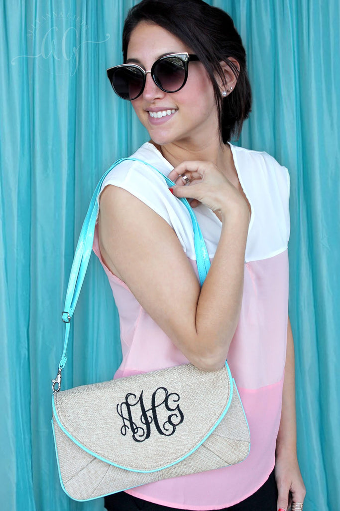 Summertime Burlap Clutch/Purse - Allyanna Gifts