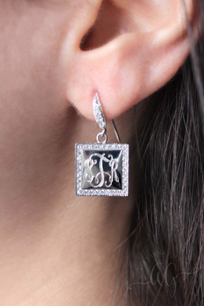 Sterling Silver Decorative Drop Earrings