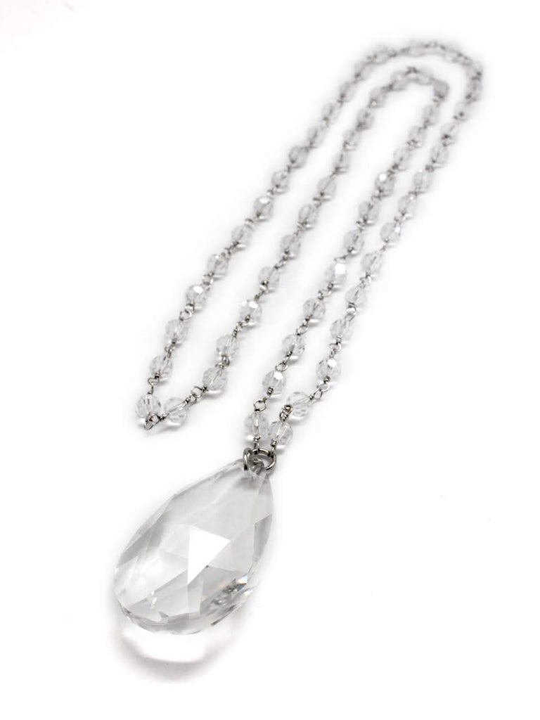 Crystal Teardrop Pendant Necklace - Allyanna Gifts