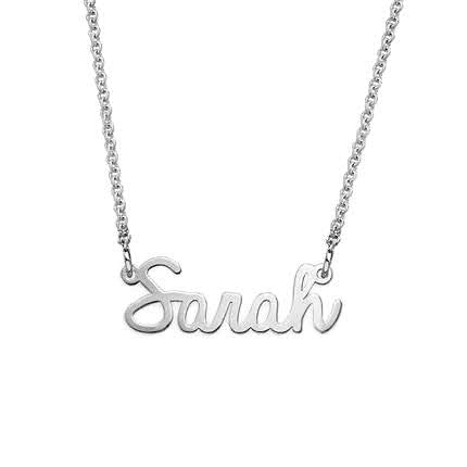 Small Personalized Cursive Name Necklace