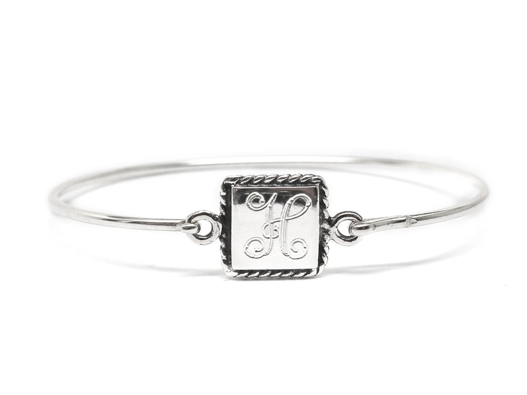 Sterling Silver Square Rope Baby Bangle