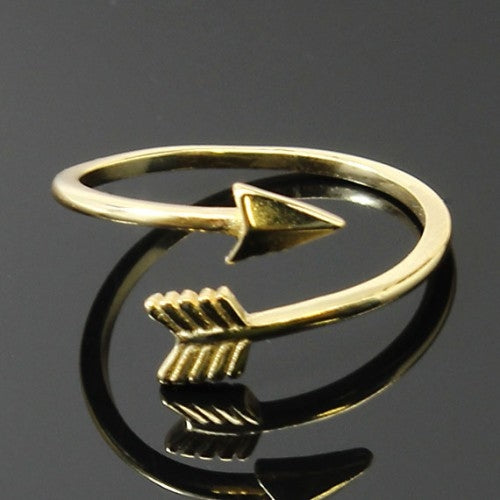 Gold Plated Sterling Silver Warrior Arrow Ring, Allyanna Gifts