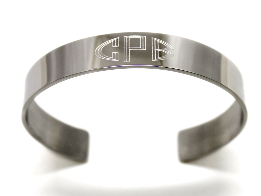 Stainless Steel Engraved Cuff