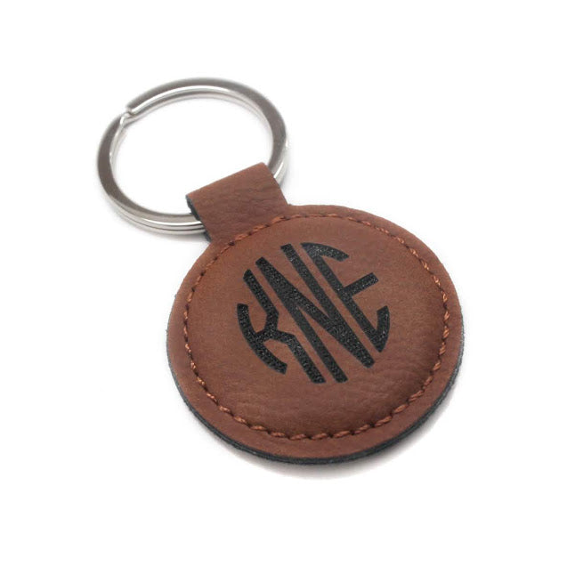 Men's Leather Keychain Tag