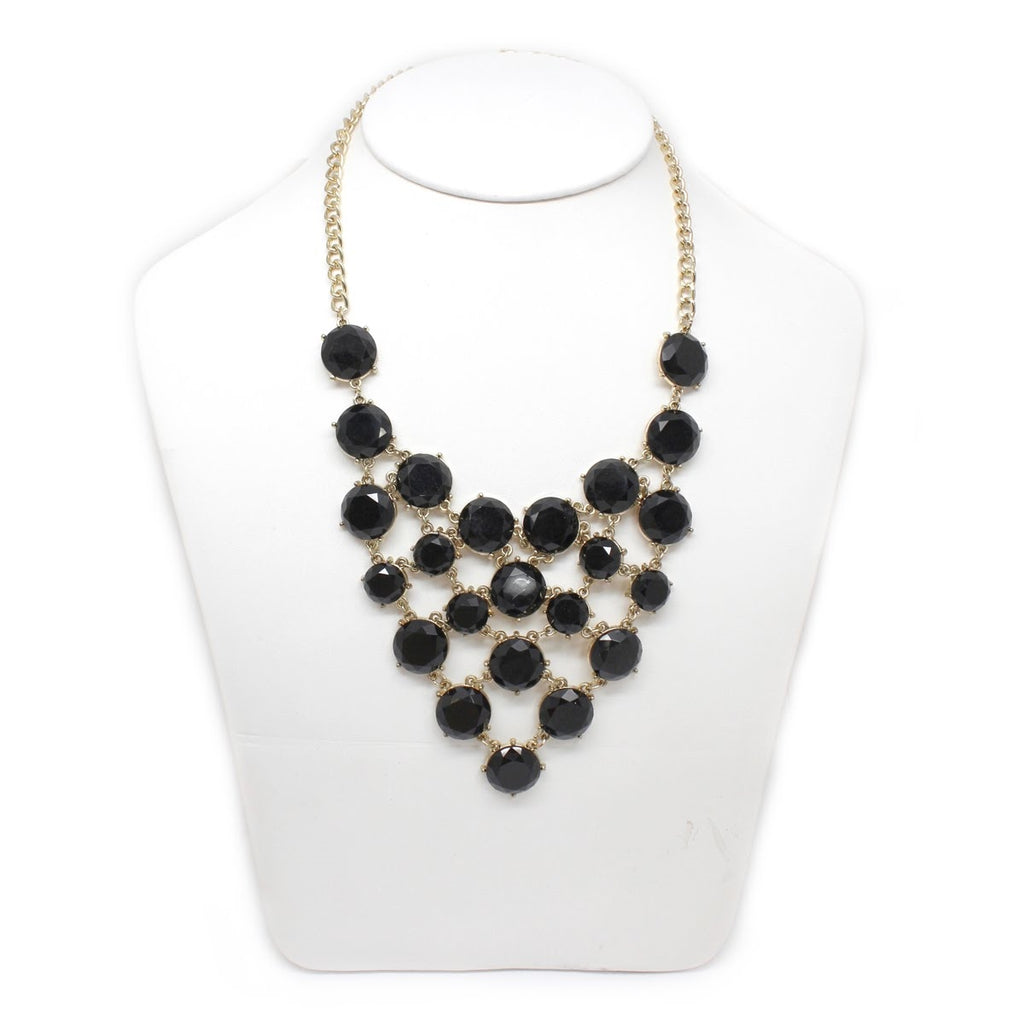 Black As Midnight Statement Necklace