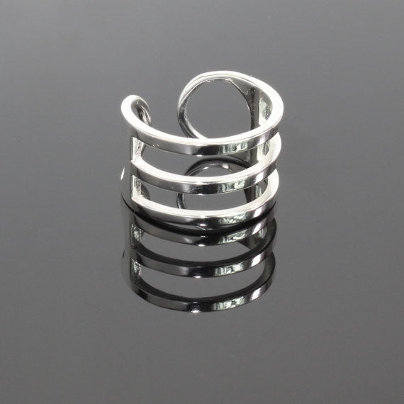 Sterling Silver Behind Bars Ring