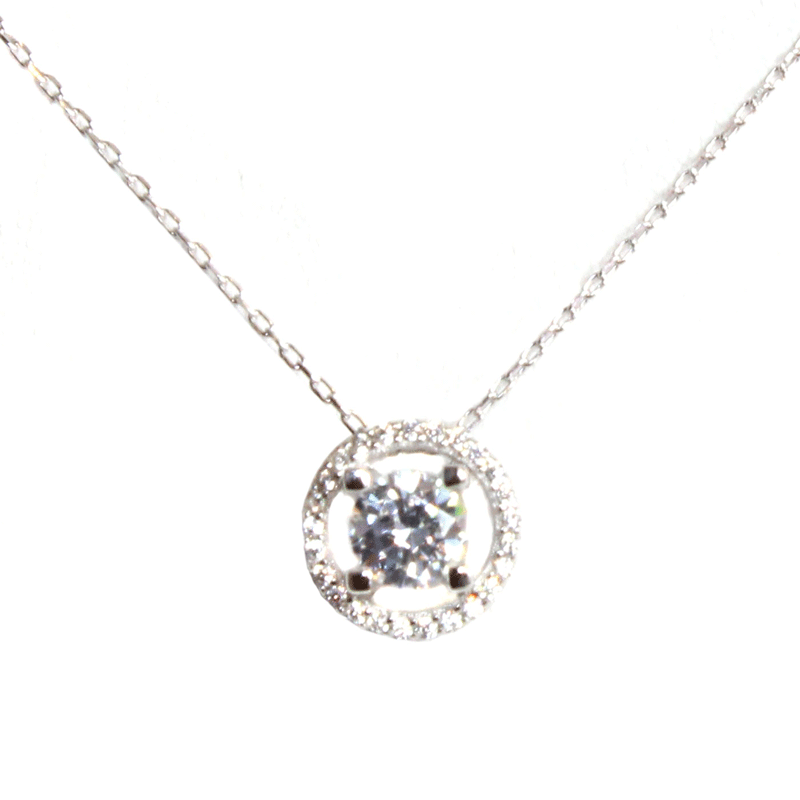 CZ Stone Square Filled Circle Necklace - Allyanna Gifts