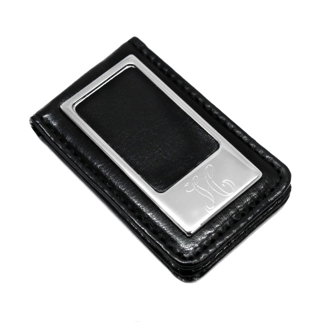 Black Leatherette Money Clip - Allyanna Gifts