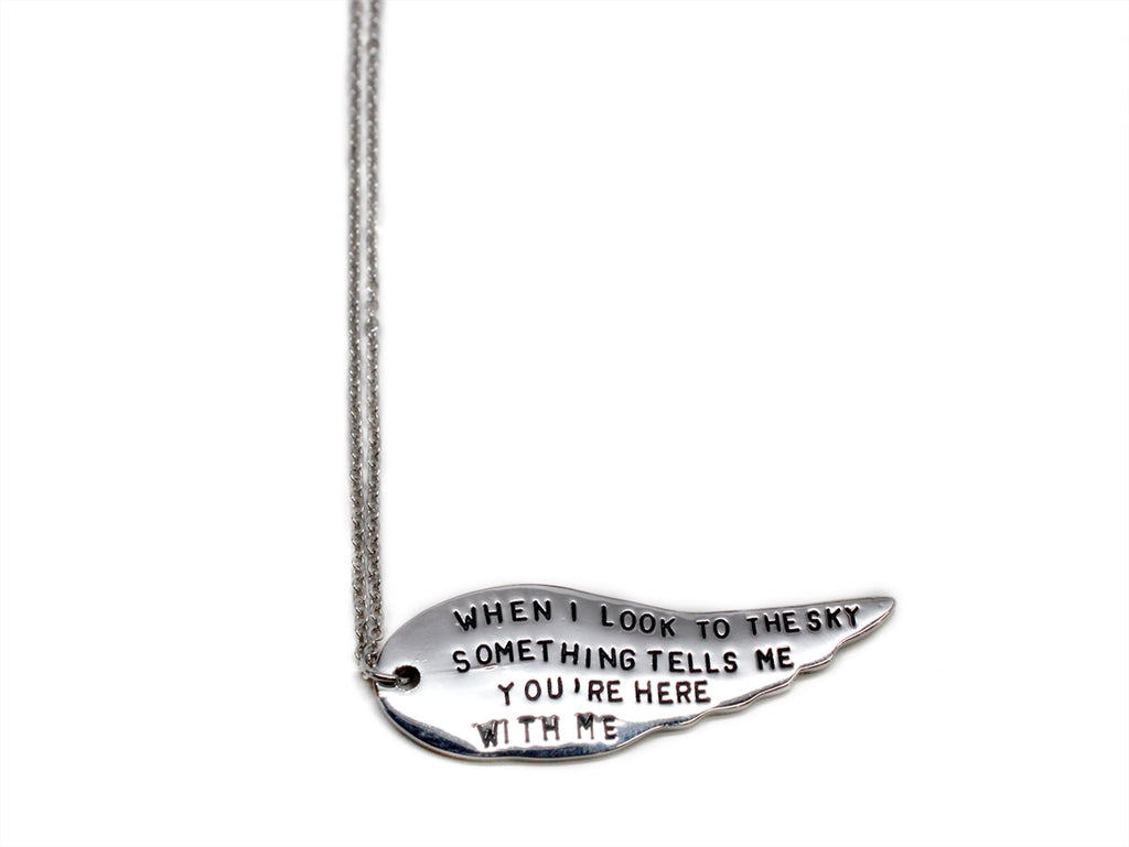 When I Look To The Sky Charm Necklace