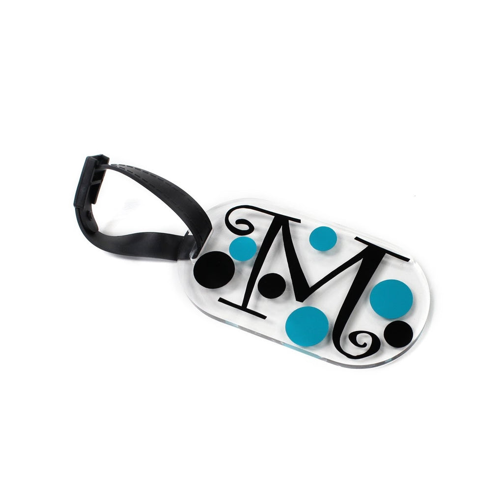 Decorative Monogrammed Acrylic Luggage Tag
