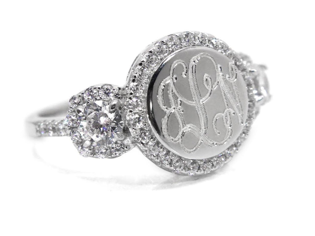 Sterling Silver CZ Maria Ring