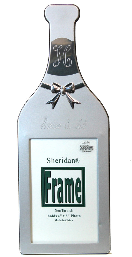 ENGRAVED WINE BOTTLE PICTURE FRAME
