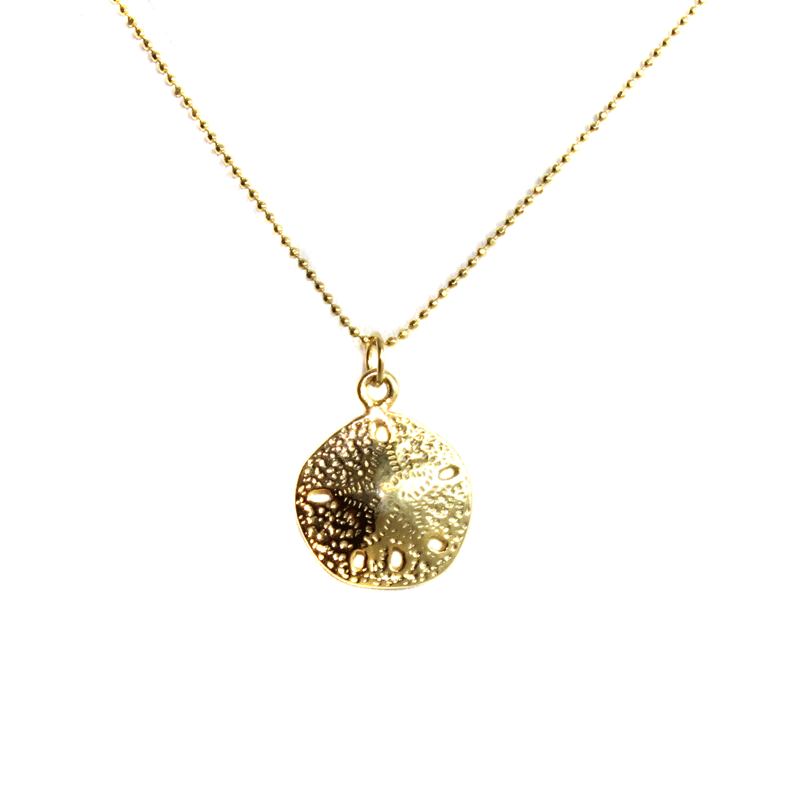 Golden Sand Dollar Necklace
