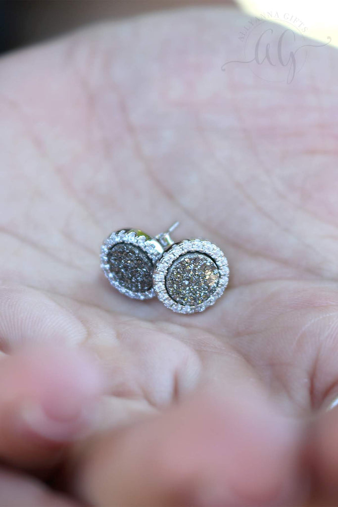 Sterling Silver Druzy Earrings - Allyanna Gifts