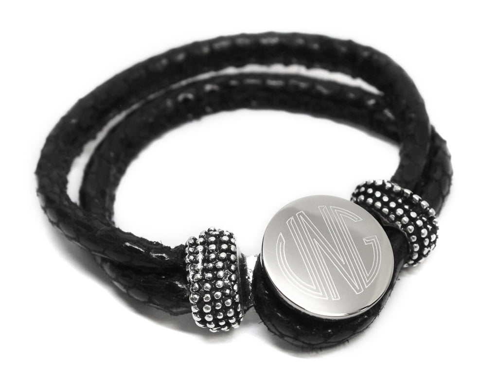 Black Loop Snap Bracelet