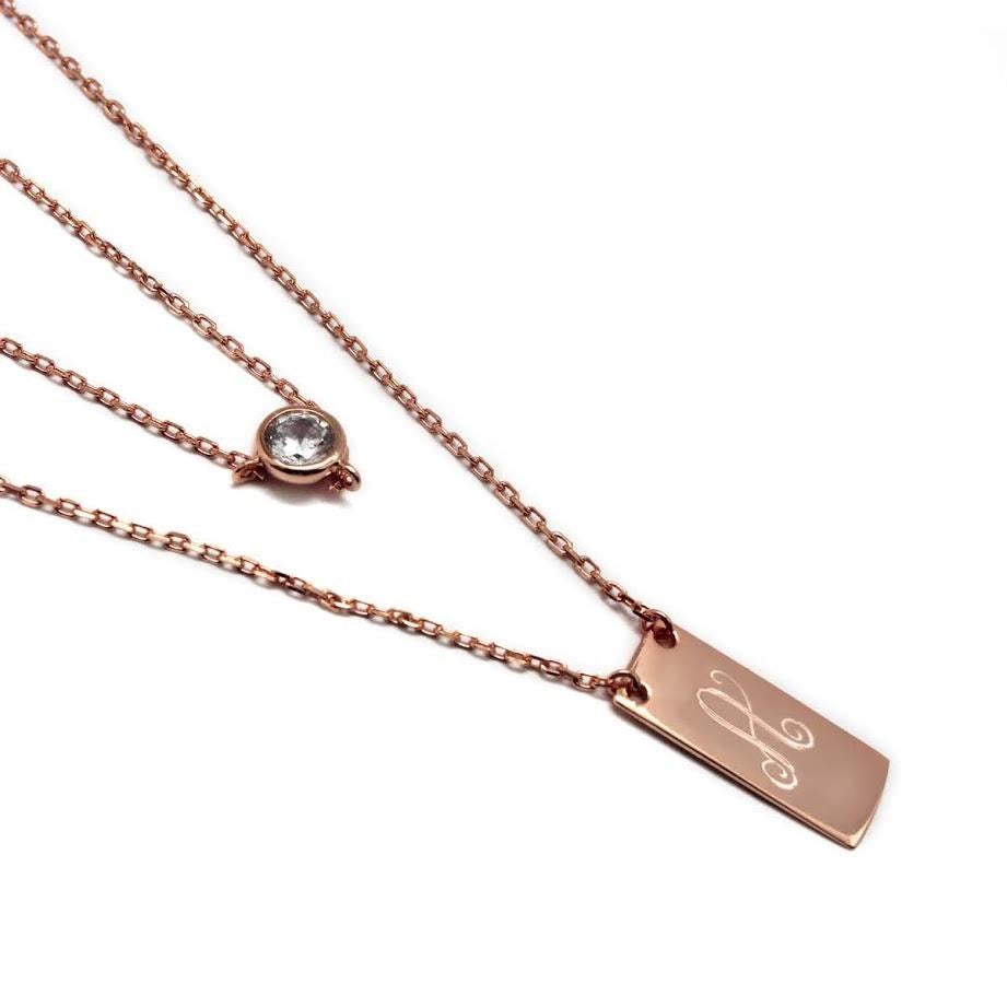 Personalized Layered Necklace