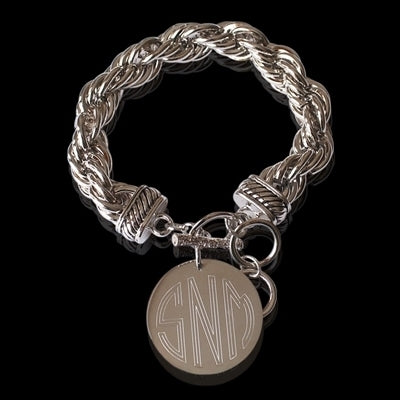 Engraved Rope Bracelet Gold & Silver - Allyanna Gifts