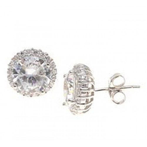"Sterling Silver 0.4"" Stud Earrings"