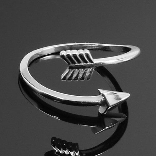 Sterling Silver Warrior Arrow Ring, Allyanna Gifts