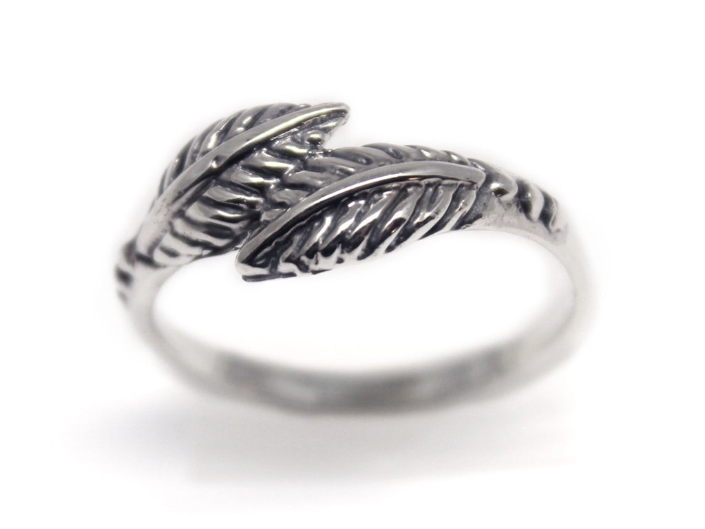 Sterling Silver Leaf Valley Ring