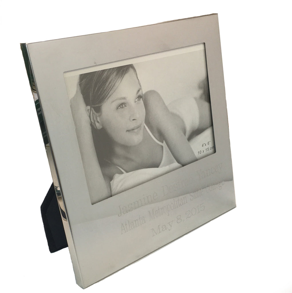 "ENGRAVED 4"" X 6"" PICTURE FRAME"