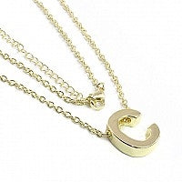 Stainless Steel Initial Necklaces - Allyanna Gifts
