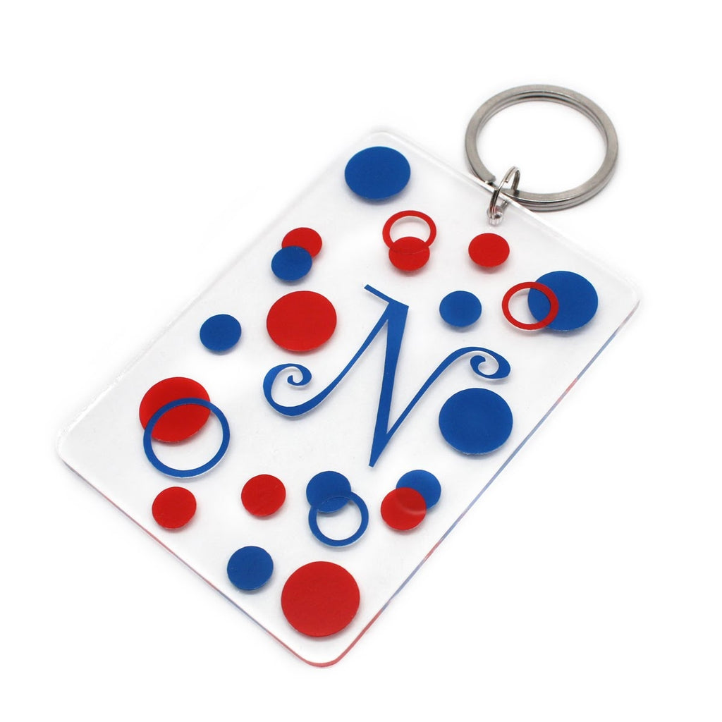 Large Bubbly Rectangle Acrylic Key Chain - Allyanna Gifts