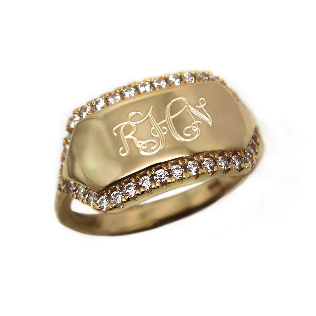Mariah CZ Bar Ring - Allyanna Gifts