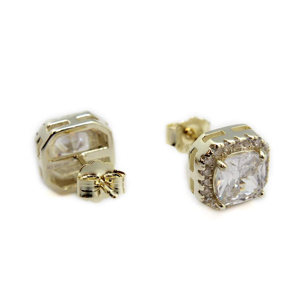 Square CZ Stone Post Earrings - Allyanna Gifts