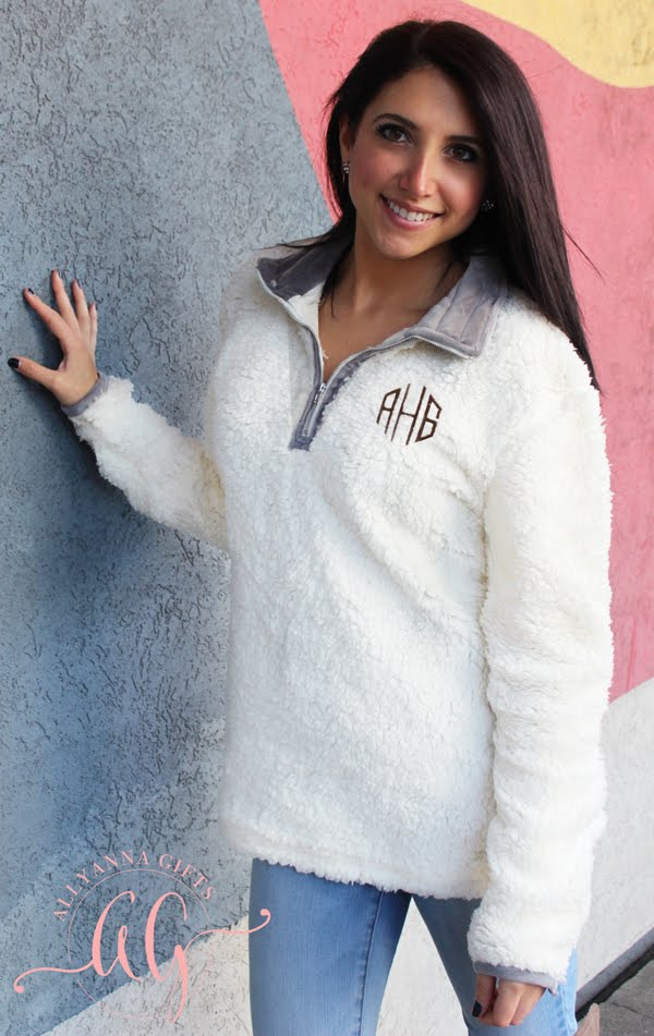 Monogrammed Zipper Sweater