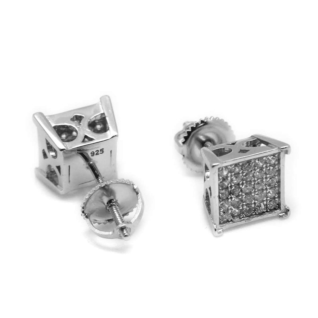Micropave Square CZ Earrings