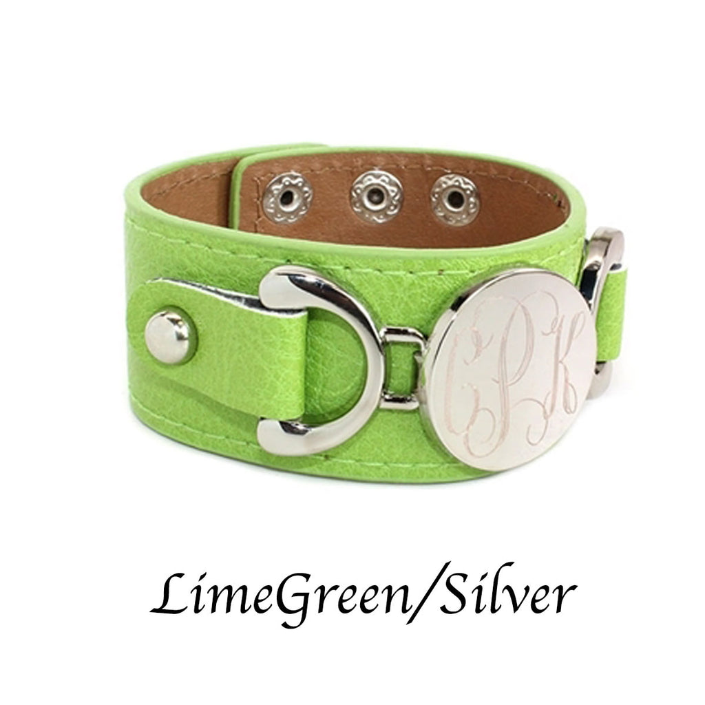 Engraved {faux} Leather Cuffs - Allyanna Gifts