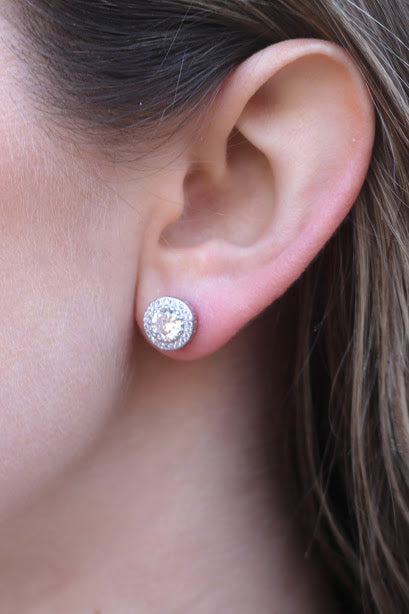Detailed CZ Post Earring - Allyanna Gifts
