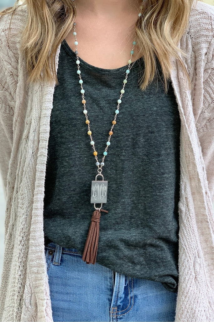 Lauren Beaded Tassel Necklace - Allyanna Gifts