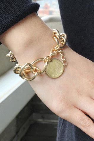 Curb Link Chain Charm Bracelet - Allyanna Gifts