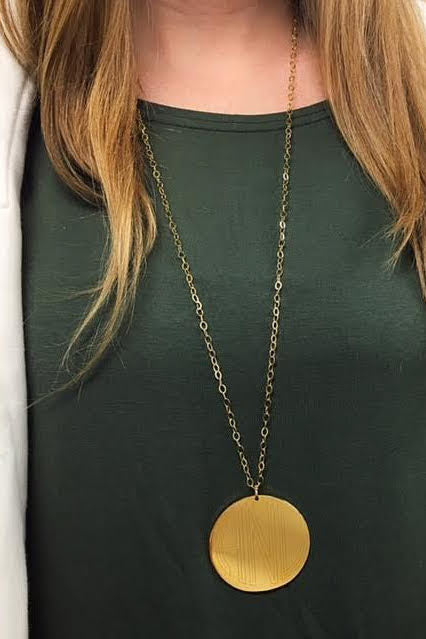 Engravable Disc Necklace - Allyanna Gifts