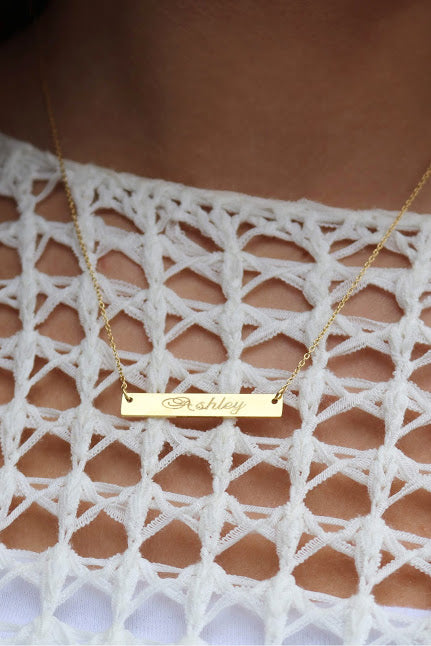 Vanessa Bar Necklace - Allyanna Gifts