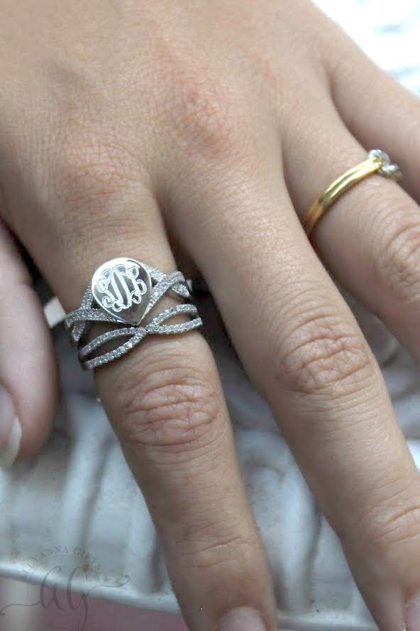 Tear Drop Stackable Ring - Allyanna Gifts