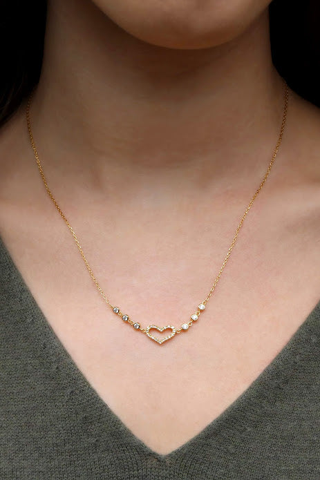Gold Heart Necklace - Allyanna Gifts