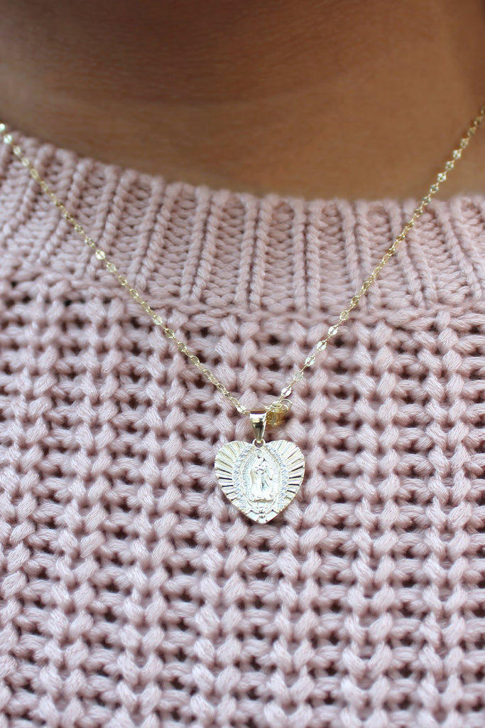 Mother Mary Heart Necklace - Allyanna Gifts