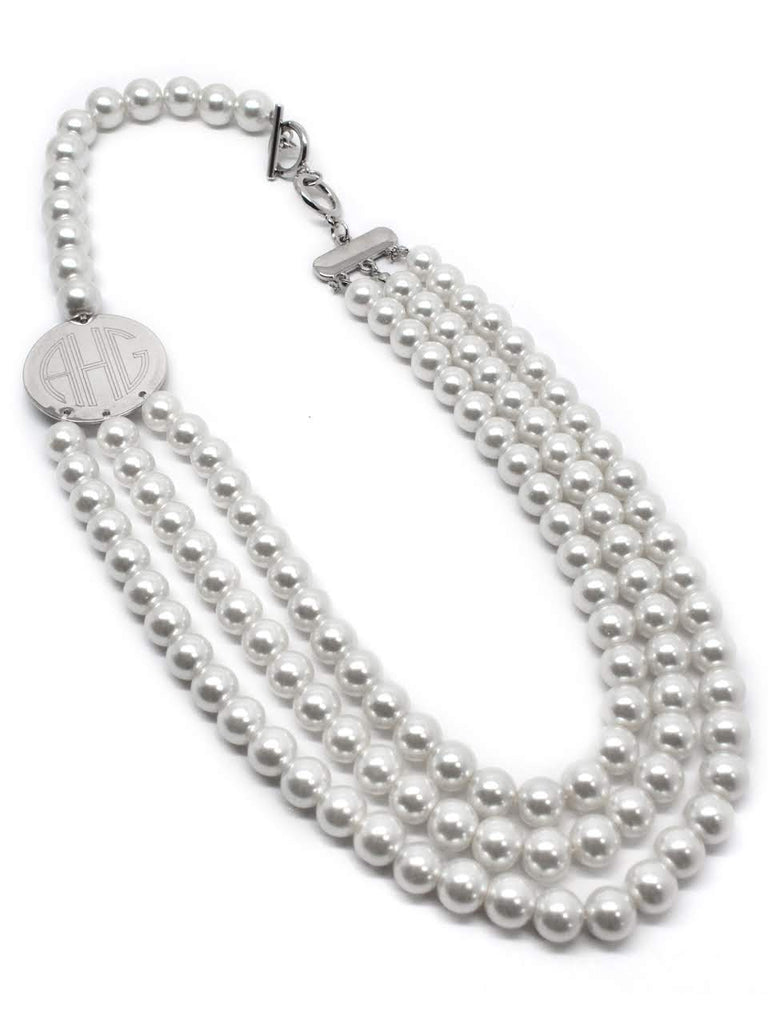 Classic Layered Engravable Pearl Necklace - Allyanna Gifts