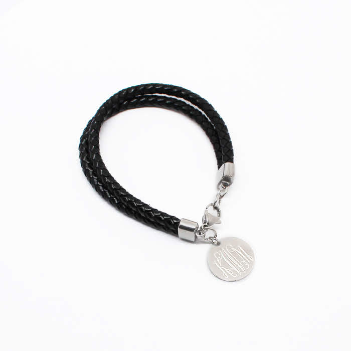 Layered Engravable Cord Bracelet - Allyanna Gifts