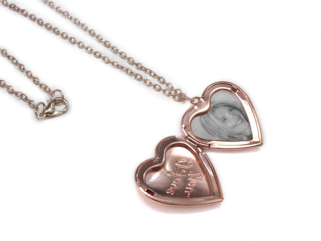 """I Love You"" Photo Necklace - Allyanna Gifts"