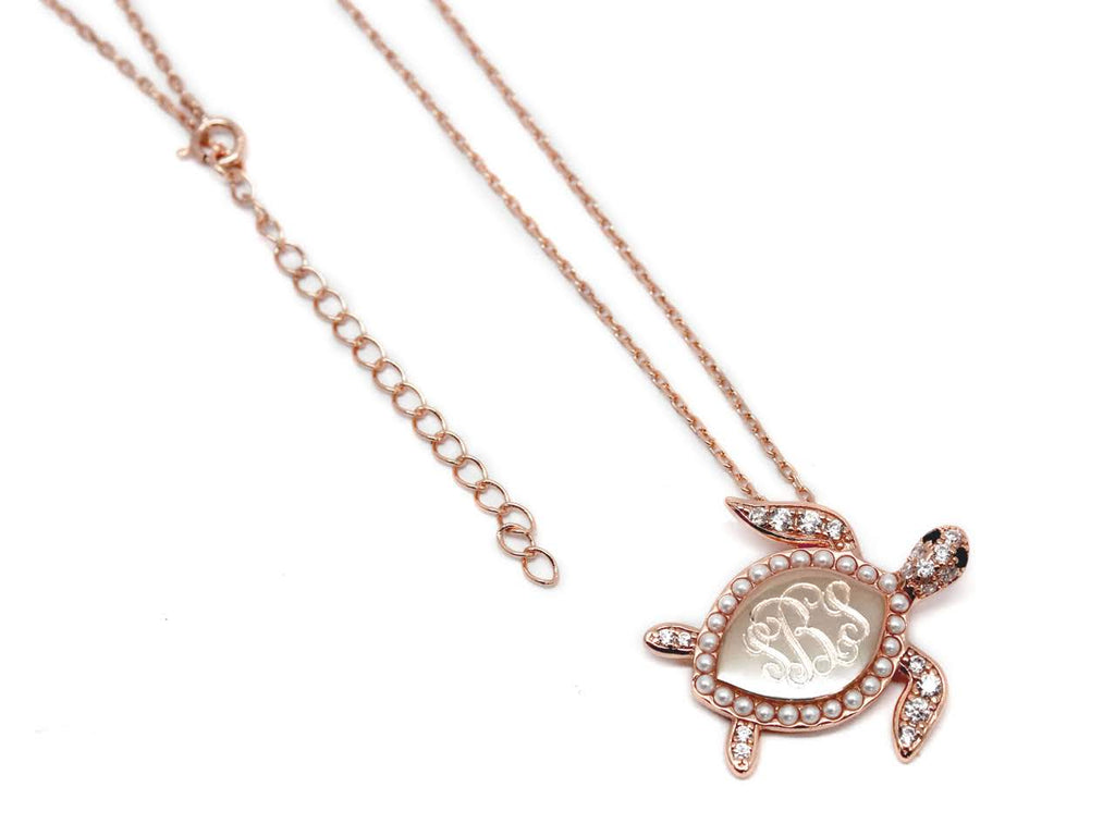 Sterling Silver Decorative Turtle Necklace