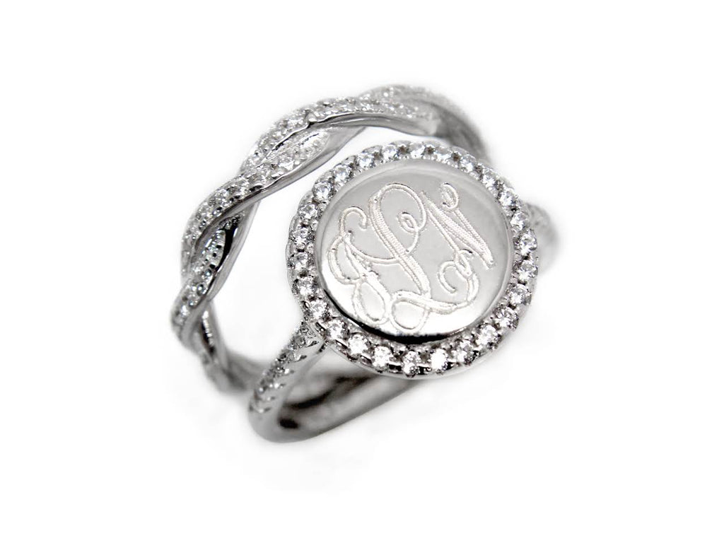 Sterling Silver CZ Sara Ring